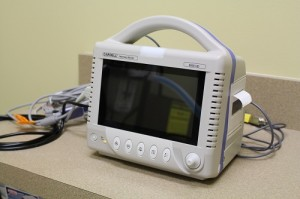 We utilize state of the art surgical monitors on all of our surgeries - we monitor heart rate, respiratory rate, oxygen saturation, EKG, blood pressure and temperature